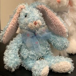 Free with purchase Stuffed bunny Blue /pink ears.